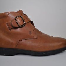 TAN LEATHER TOD's ANKLE BOOTS MONK STRAP 12 ITALY