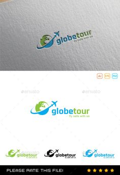 Buy Travel Logo by Exe-Design on GraphicRiver. Travel Agency Logo, Travel Logo, Logo Design Template, Logo Templates, Typography Logo, Logo Branding, Turismo Logo, Office Logo, Fantasy Characters