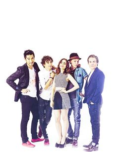 Godfrey Gao, Robert Sheehan, Lily Collins, Jamie Campbell Bower, and Kevin Zegers. TMI CAST