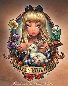 Disney Princess Pinup Girl Tattoo - Alice in Wonderland!