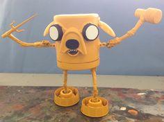 assemblage robot jake big geek by Valerobots on Etsy