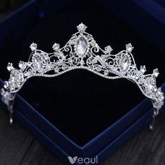 Sparkly Silver Tiara 2018 Metal Crystal Beading Rhinestone Accessories Headpiece Jewelry, Hair Jewelry, Royal Jewelry, Cute Jewelry, Quinceanera Tiaras, Silver Tiara, Crystal Crown, Crystal Rhinestone, Diamond Tiara