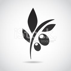 Olive icon isolated on white background. royalty-free stock vector art
