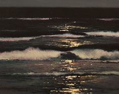 Moonlight Surf by Brian Blood Oil ~ 24 x 30