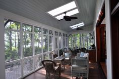 3 season room off of the family room over basement - Cole Residence - traditional - porch - charleston - Frederick + Frederick Architects