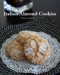 These are the BEST EVER, absolutely moreish and delicious Sicilian almond cookies you'll ever taste With a thin and crispy crust outsi is part of Italian almond cookies - Almond Paste Cookies, Italian Almond Cookies, Almond Meal Cookies, Italian Cookie Recipes, Sicilian Recipes, Almond Cakes, Italian Foods, Italian Desserts, Amaretti Cookies