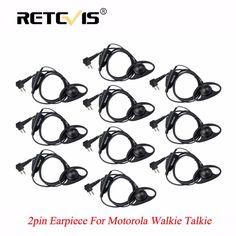 10pcs Retevis D Shape Soft Ear Hook Earpiece PTT Walkie Talkies Headset For Motorola GP300 P040 GP2000 P080 CT150 For HYT TC-500 #Affiliate