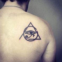Eye Of Ra Tattoo, Third Eye Tattoos, All Seeing Eye Tattoo, Full Arm Tattoos, Hand Tattoos For Guys, Top Tattoos, Fonts For Tattoos, Egyptian Mythology, Egyptian Goddess