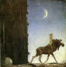"""Leap the elk"" John Bauer (1882-1918)"