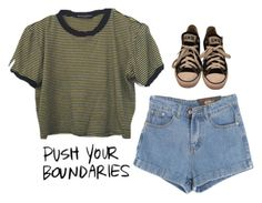"""""""2821."""" by a-colette ❤ liked on Polyvore featuring Chicnova Fashion and Converse"""