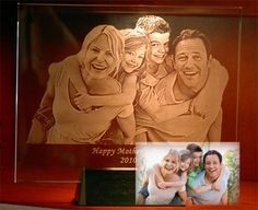 Photo Engraved Crystal, 3D Laser Crystal Gifts, Personalized Photo Crystals, Gifts for People, Events or Pets