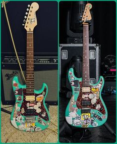 my other guitar fender tom delonge strat i really want to switch the pick guard and add 2. Black Bedroom Furniture Sets. Home Design Ideas