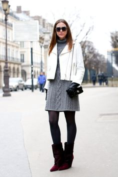 Not sure about the color of the jacket but overall like the look - Paris Fashion Week Fall 2013
