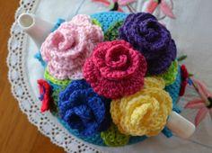 Crochet tea cosy free pattern