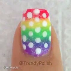 Nail DIY tutorial. By @trendypolish HOW TO: Rainbow Gradient With Polka Dots! full tutorial is live on YouTube (link in bio). Polish I'm holding is You Can't Stop The Music by @chichicosmeticsofficial, all other polishes I used are listed in my previous post. #nailideas #nail #nailart #nailpolish #nailhowto #nailtutorial #nailartdesign #naildiy #tutorial #tutorials #instructions #instruction #diy #nailartjunkie #diyideas #rainbow #doityourself #idea #ideas #nailpictorial #nailarts