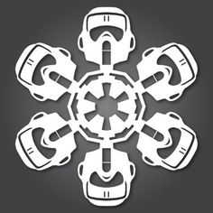 Scout Trooper Star Wars Snowflake Template (31 others here)