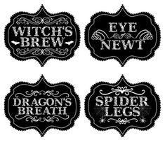 Printable #Halloween Food Labels! #free