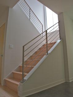 modern railing: build up wall + railing