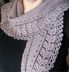 crafts for spring, lace scarf: free knitting patterns | make handmade, crochet, craft