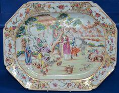 Fine RARE Large C18 Chinese Qianlong Period Mandarins Meatplate C1736 1795   eBay