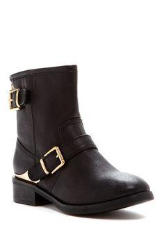 Sabrina Casual Boot on HauteLook black boot gold metal detail- cute but knee high pls!
