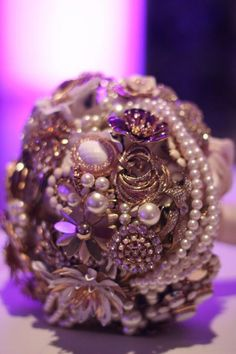 """Almost exactly what I want minus the purple, and I already have my first brooch for it from my great grandmother . It will be the perfect """"something old"""" ."""
