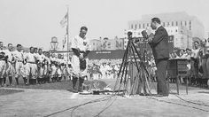 Baseball hero Lou Gehrig is honored at Yankee Stadium in 1939. Gehrig's contributions to baseball strongly represented the American ideals of democracy, individualism, and meritocracy in the 1930s.