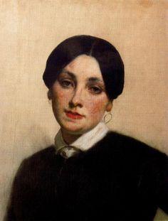 Thomas Couture - Portrait de Mademoiselle Florentin