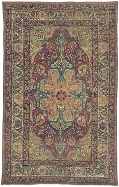 LAVER KIRMAN, Southeast Persian 4ft 2in x 6ft 7in Circa 1850