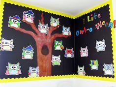 A fun idea for an owl themed Halloween, I mean, Owloween bulletin board!
