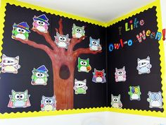 A fun idea for an owl themed Halloween, I mean, Owloween bulletin board!