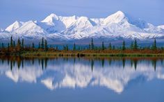 Majestic Mount McKinley massif reflected onto Wonder Lake at Denali National Park in Alaska. I so want to go to Alaska. Places To Travel, Places To See, Places Around The World, Around The Worlds, Beautiful World, Beautiful Places, House Beautiful, Beautiful Beautiful, Absolutely Stunning