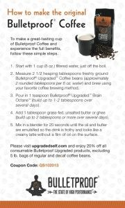 Bulletproof-Coffee-Recipe-Card, http://www.bulletproofexec.com/how-to-make-your-coffee-bulletproof-and-your-morning-too/