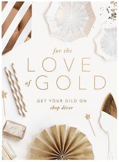 BHLDN | Anthropologie Weddings | Gold Decor | Email Design