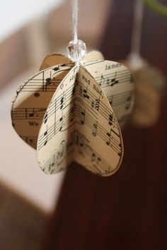 Make these deceptively easy paper ornaments with the kids or savor some solo cra., DIY and Crafts, Make these deceptively easy paper ornaments with the kids or savor some solo crafting time. Paper Christmas Decorations, Paper Christmas Ornaments, Christmas Music, Diy Christmas Ornaments, Ornaments Ideas, Christmas Trees, Christmas Goodies, Christmas Star, Christmas Quotes