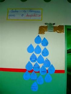 torneira dia da agua Class Decoration, School Decorations, Diy And Crafts, Crafts For Kids, Earth Day Crafts, Creative Curriculum, Red Balloon, Learning Spaces, Pre School