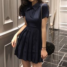 Teen Fashion Outfits, Girl Outfits, Casual Outfits, Korean Girl Fashion, Ulzzang Fashion, Casual Dresses For Women, Short Dresses, Banquet Dresses, Cute Outfits With Jeans