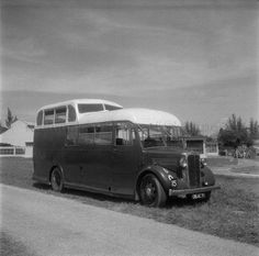 A COMMER/PARK ROYAL HALF-DECK BUS FROM THE ROYAL AIR FORCE Changi.  1956