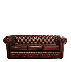 I'm drooling over this Cherry-red Chesterfield sofa.