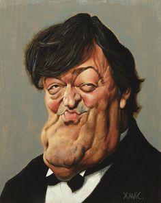"CARICATURAS DE FAMOSOS: ""Stephen Fry"" por Xavier Casals"