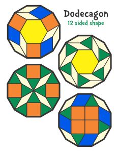 Jessica's Shapes Pattern Block Templates
