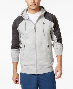 adidas Originals Men's Sport Luxe Moto Full-Zip Hoodie