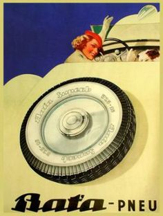 Vintage Bata Tires Ad #batashoes #120yearsadvertising