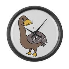 goose Large Wall Clock > goose > babygoop
