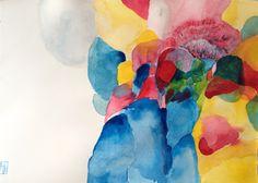 Fluttering My Way Through 2 Canvas Art - Lina Alattar x Paper Folder, My Way, Illustration Art, Illustrations, Canvas Art, Colours, Watercolour, Imagination, Walmart
