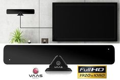 Vaas Ultrathin HD Antenna - Receive HD Television Signals for Free!