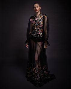 Reem Acra is a renowned international designer known for her breathtaking collections in Ready-to-Wear and Bridal. Midnight Garden, Reem Acra, Lace Flowers, Ready To Wear, Goth, In This Moment, Couture, Bridal, Ethereal