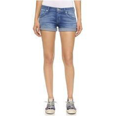 Hudson Hampton Cuffed Shorts (180 CAD) ❤ liked on Polyvore featuring shorts, sunbelt, cuff shorts, hudson shorts, frayed shorts, cuffed shorts and zipper shorts