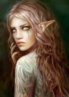 Female Tattooed Elf