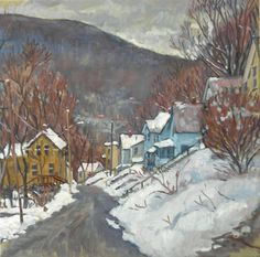 Towards Vermont Winter Snow Original Oil on by wickstromstudio, $350.00